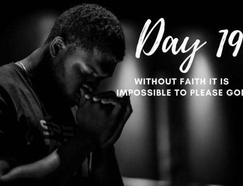 Day 19 – 21 Days of Prayer
