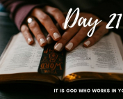 Day 21 New Life 21 Days of Prayer