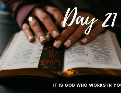 Day 21 – 21 Days of Prayer